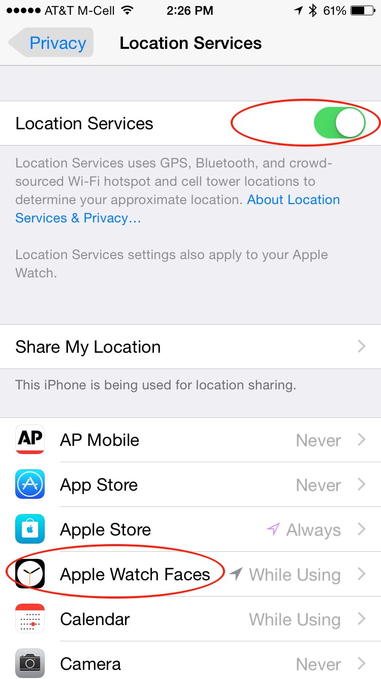 How to force apple watch to fix sunrisesunset display updated below that make sure apple watch faces can access your location while using buycottarizona
