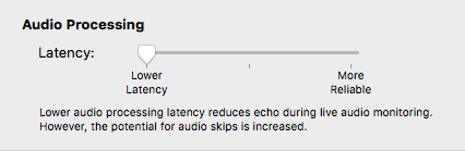 Audio Hijack Low Latency Preference