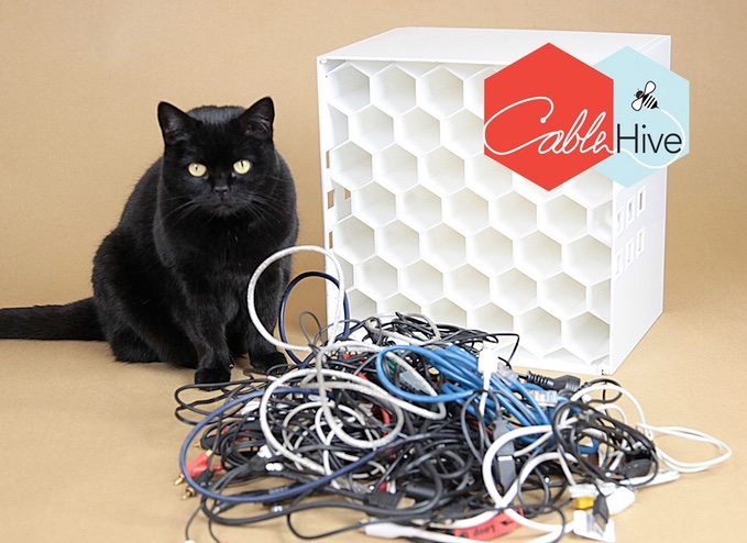 Cable Hive Nicely Organizes All Your Wires & Chargers