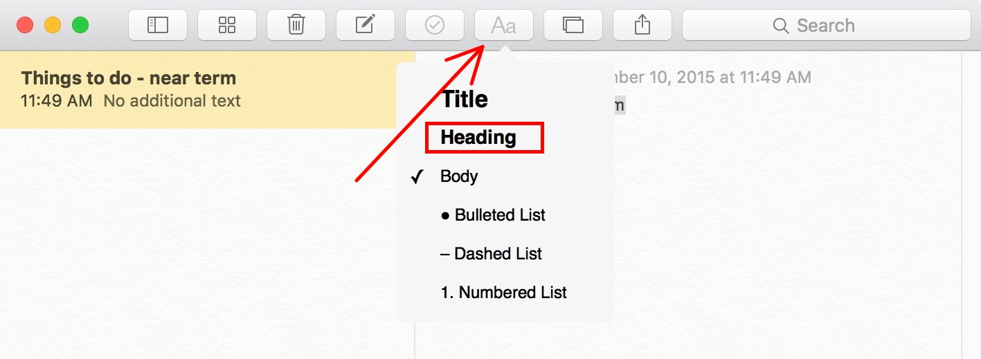 How to Create Fast and Easy Checklists in OS X El Capitan's Notes ...