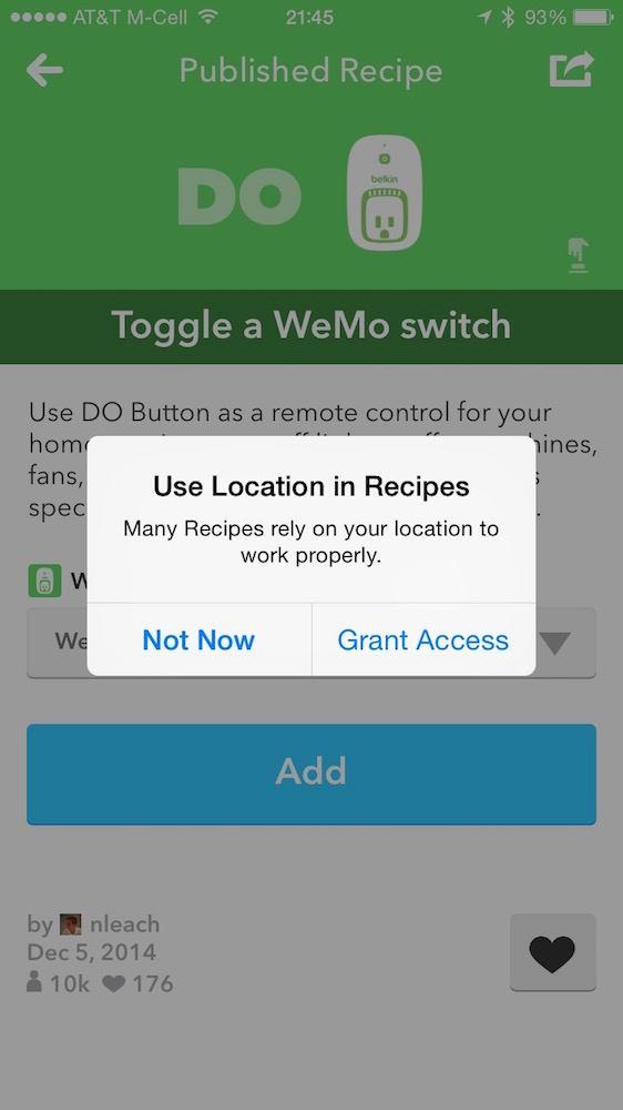 Do Button Location popup