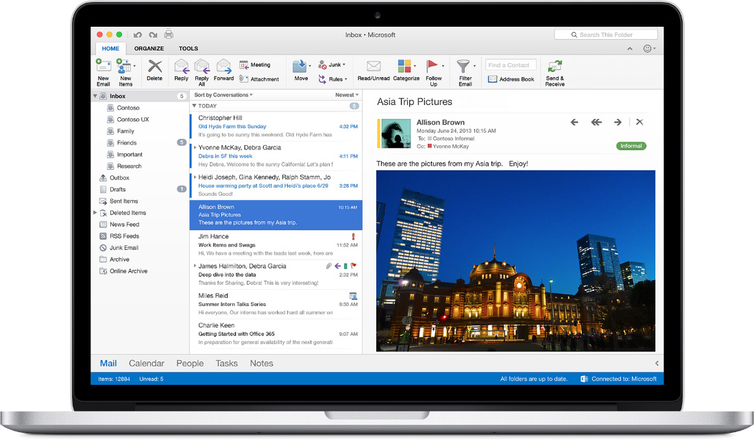 Outlook 2016 for Mac Screenshot