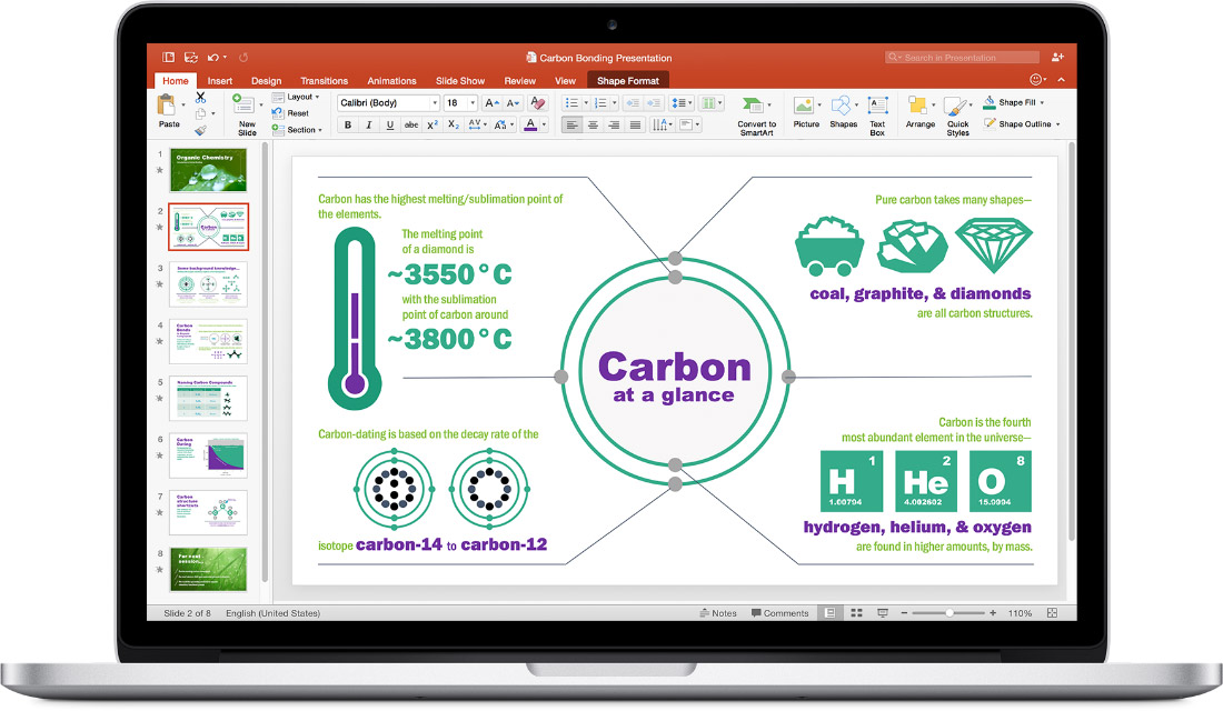 PowerPoint 2016 for Mac Screenshot