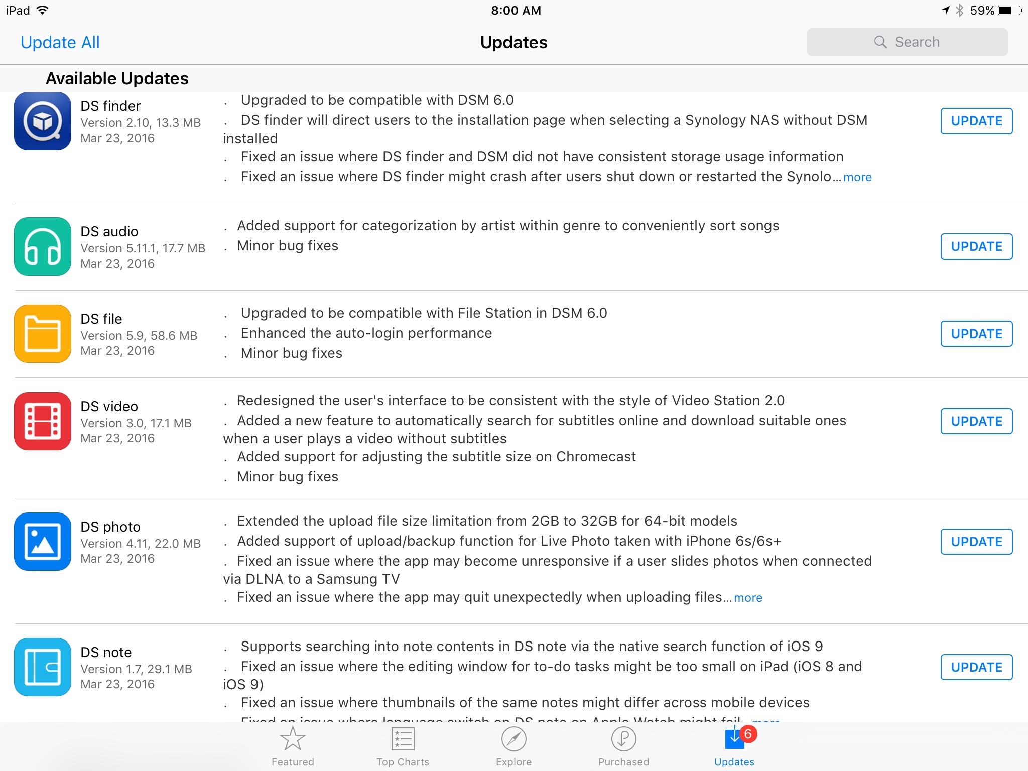 Synology Updated their Suite of iOS Apps to Match DSM6