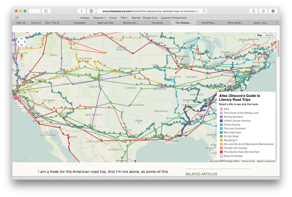 Get Lost, and Found, in the Awesome Literary Road Trips Map