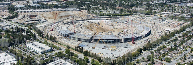 Cupertino Posts Aerial Shot of Apple Campus 2 Showing Rising Construction