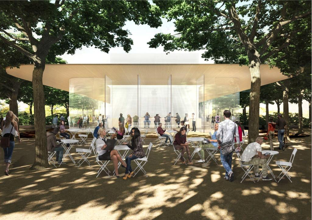 Apple Campus 2 Visitor Center Rendering