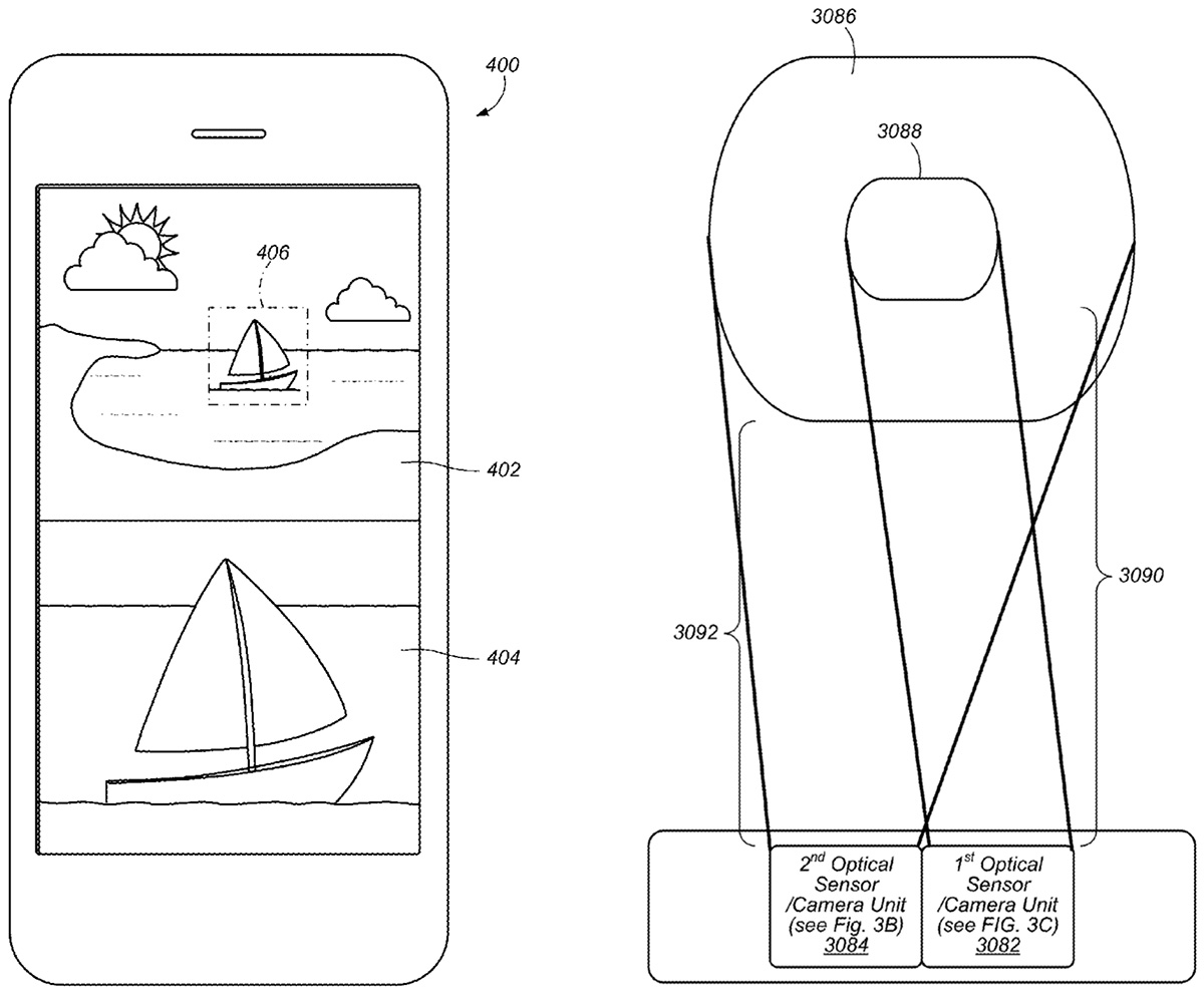 apple dual lens camera patent application
