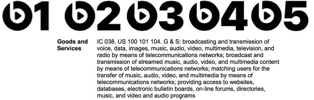 Apple's Beats Radio logo trademark filing