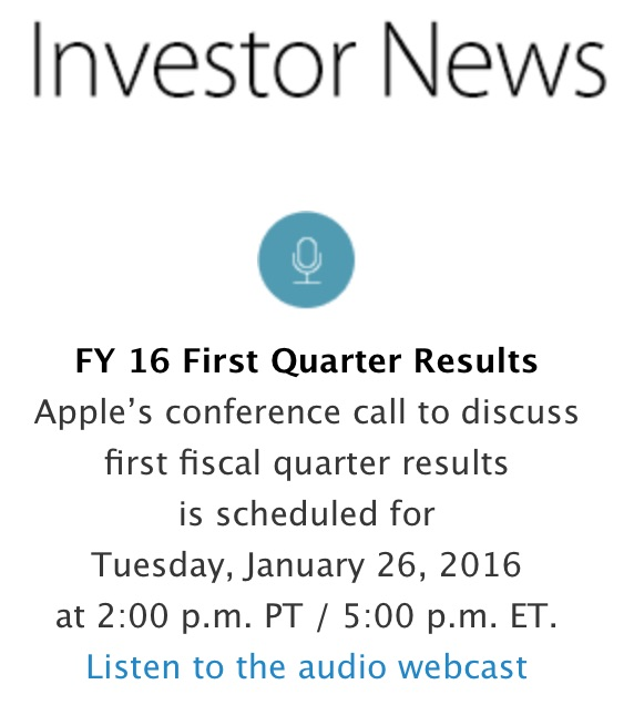 apple q1 2016 investor news