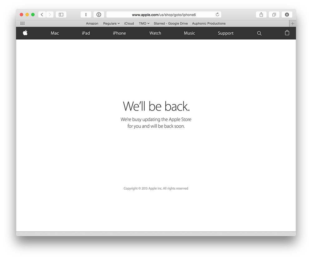 Apple's Web store goes offline for