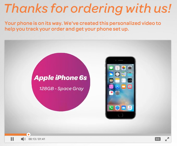 AT&T is personalizing iPhone 6s purchase videos