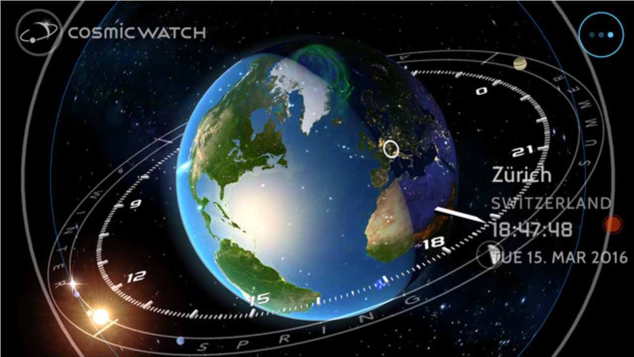 Cosmic Watch, an Astronomical Clock for iOS
