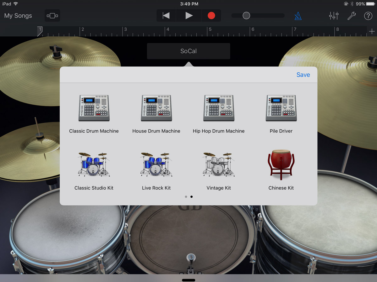 GarageBand Drum Browser