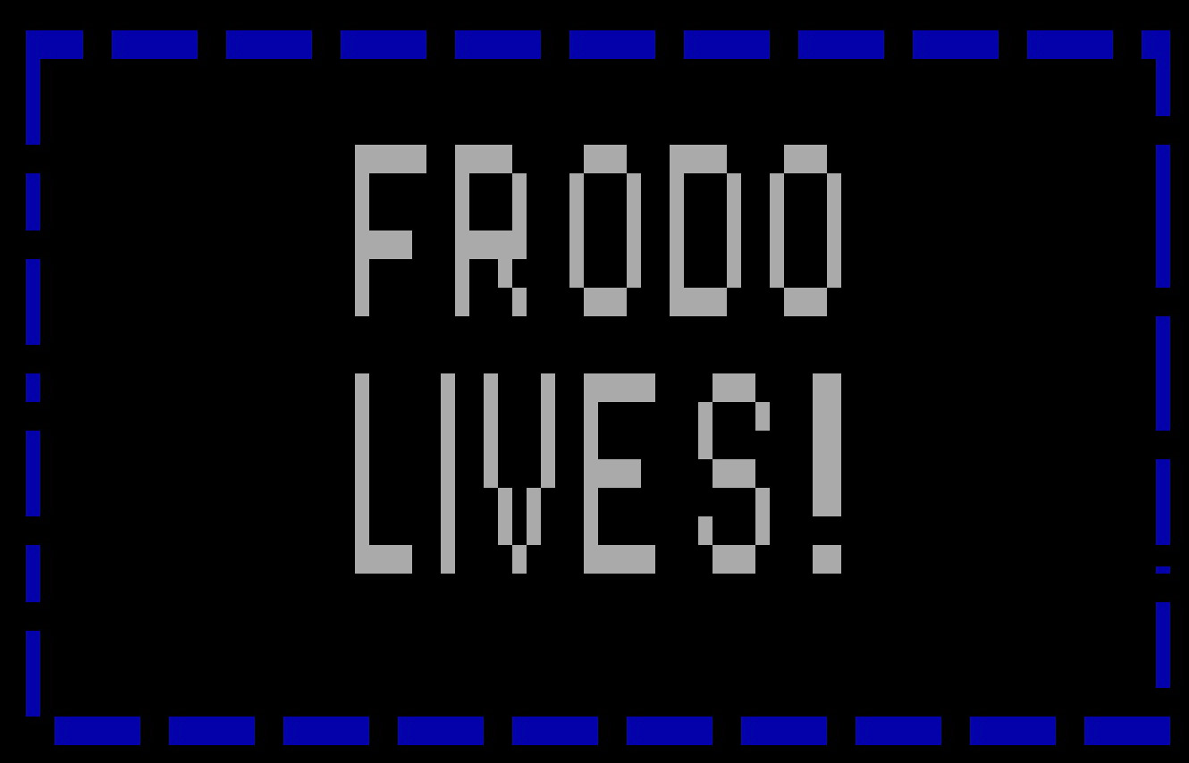 'Frodo Lives!' and Other DOS Malware Examples