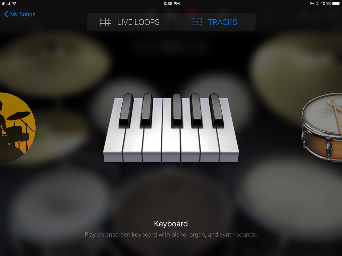 GarageBand Instrument Browser