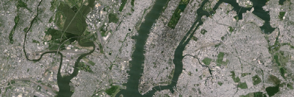 Previous Google Earth image of New York City