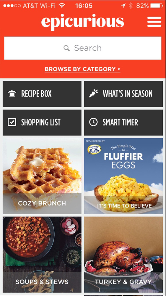 Epicurious is great for discovering new recipes