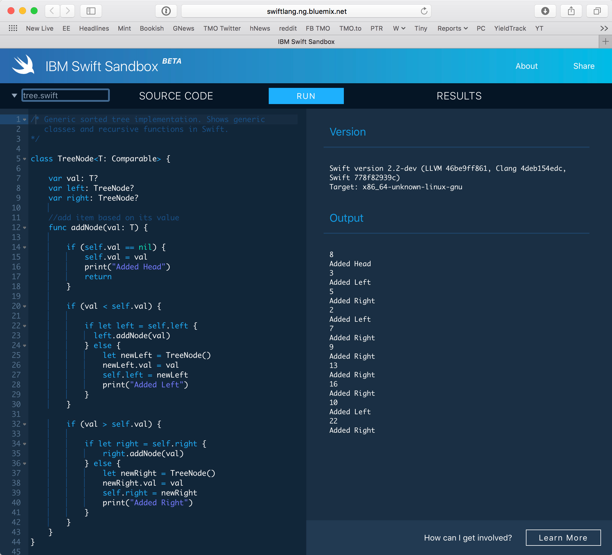 IBM Launches Free 'Swift Sandbox' that Runs Code in Your Browser