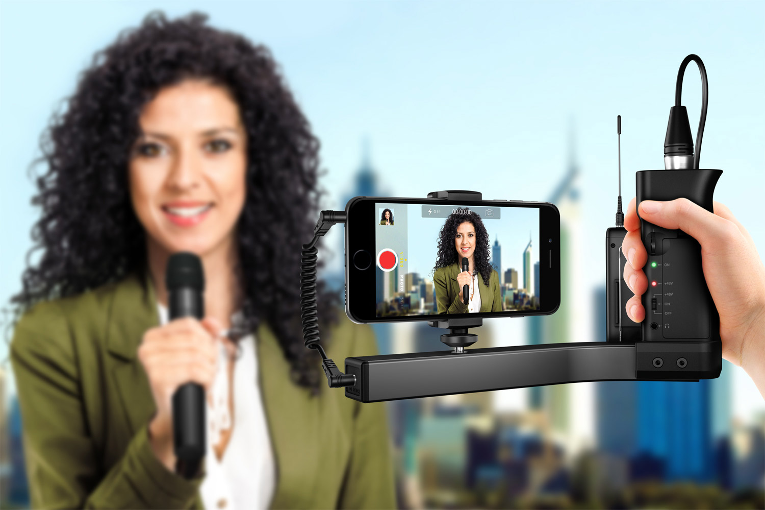IKlip A/V Broadcast Mount for iPhone