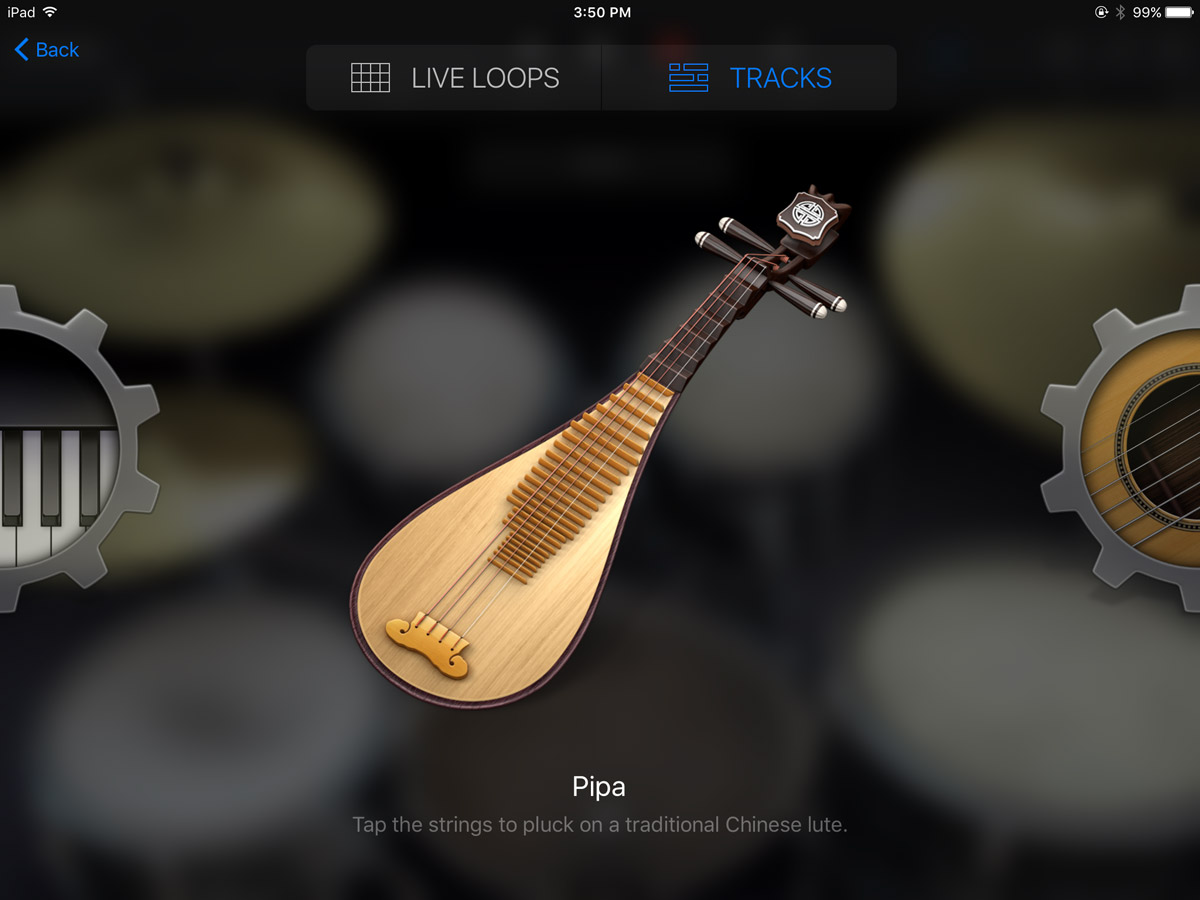 GarageBand Instrument Browser Pipa