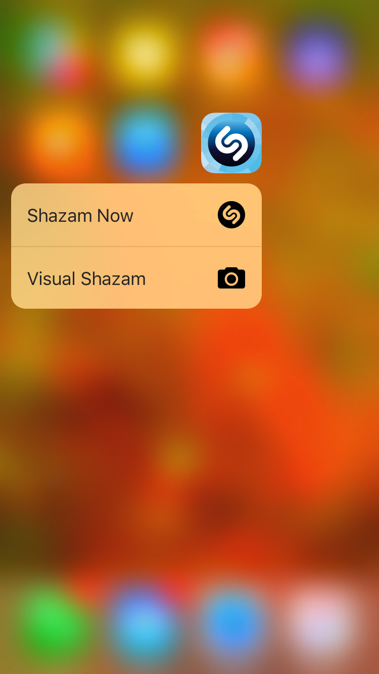 Shazam 3D Touch Screenshot