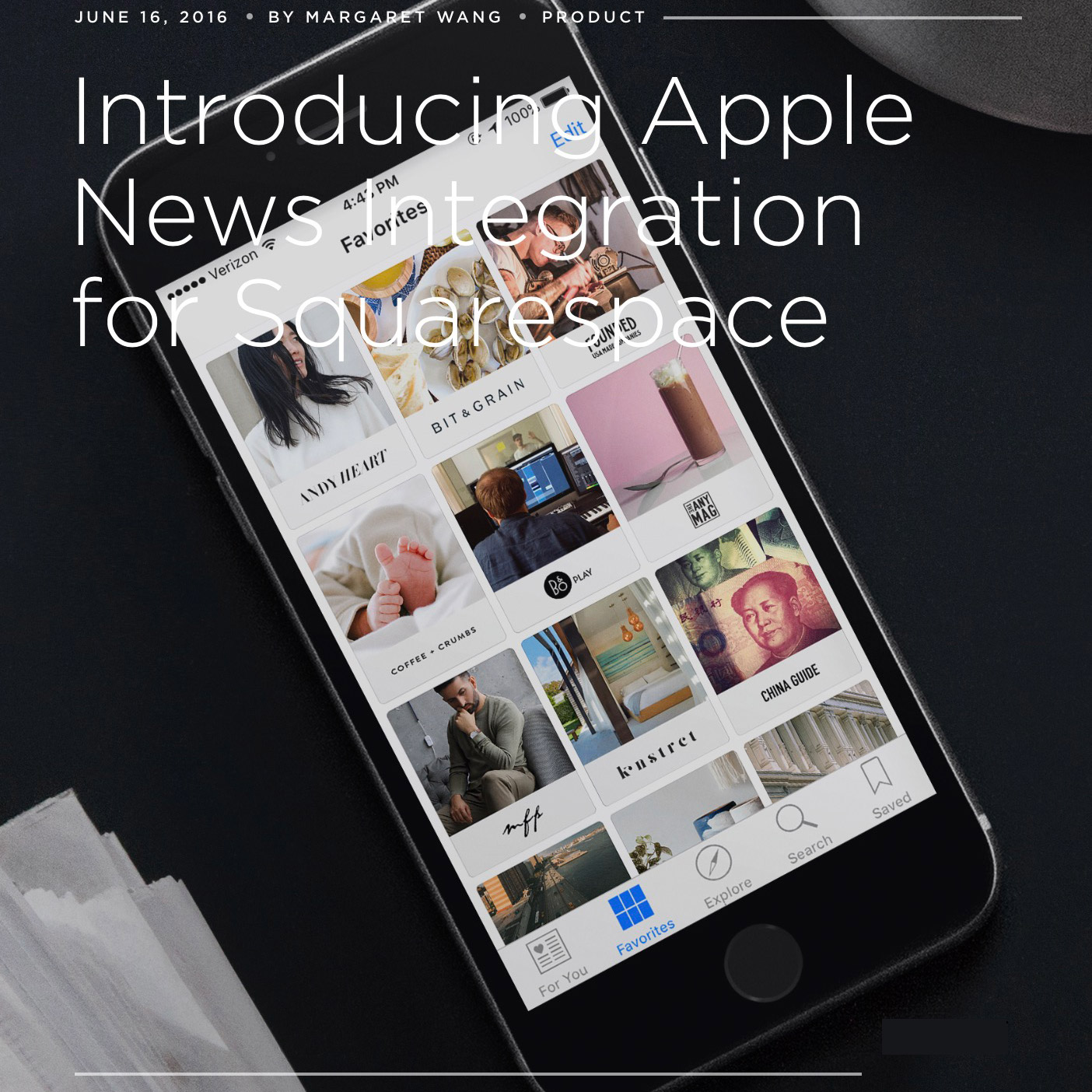 Squarespace Supports Apple News Format for Customers