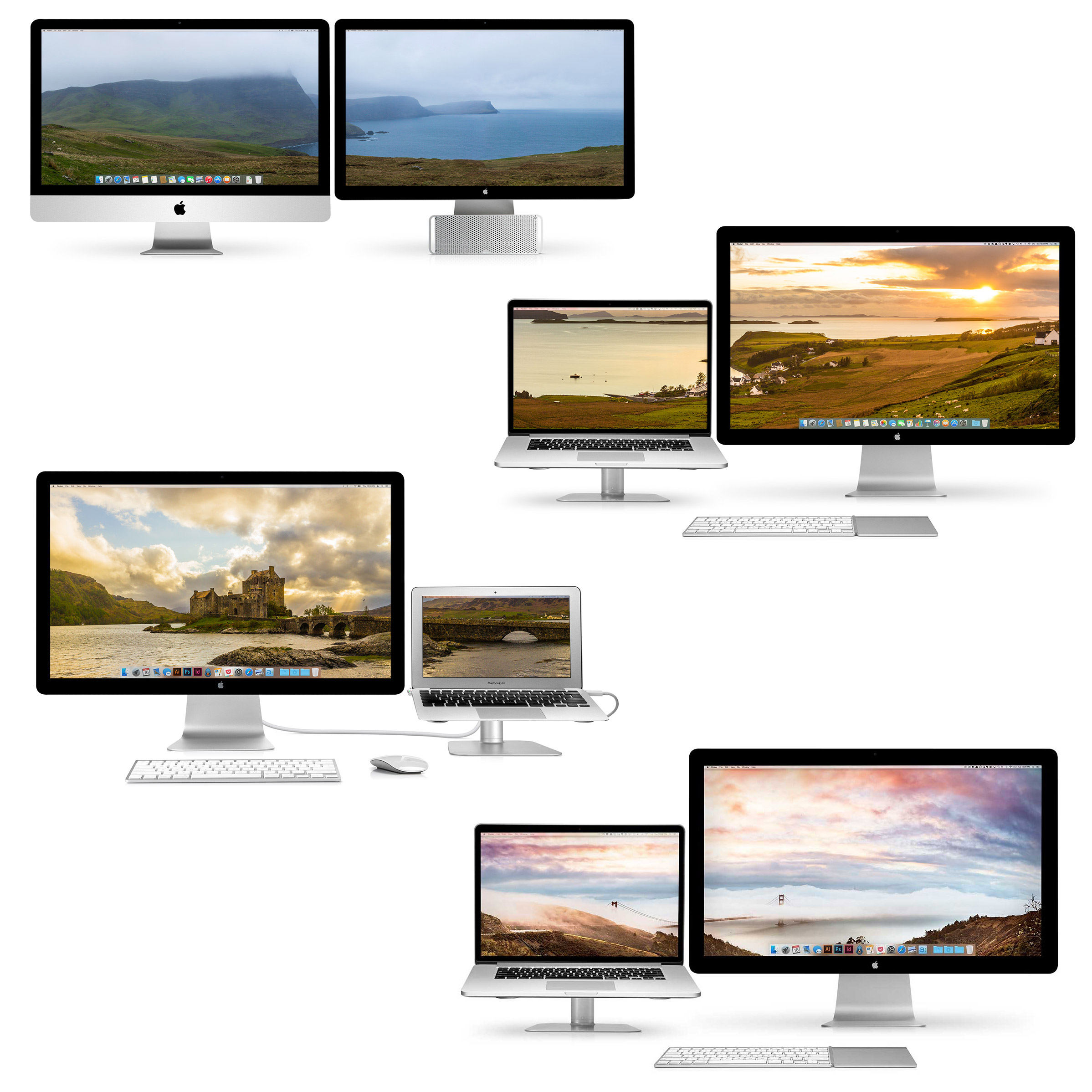 Free Dual-Display Wallpaper for Your Macs