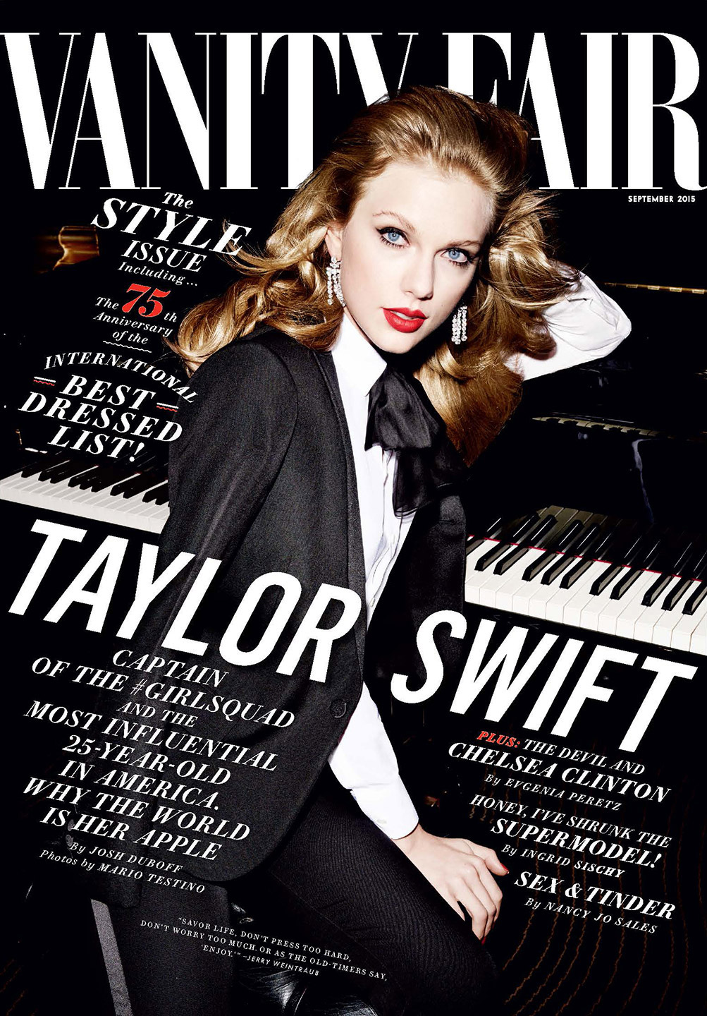Vanity Fair Cover Spread Dedicated to Taylor Swift and Apple