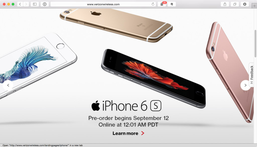 Verizon iPhone Landing Page