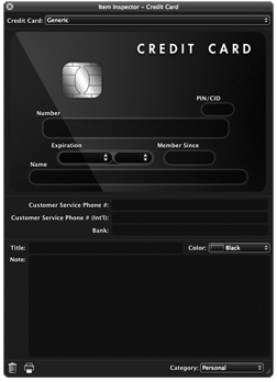 Credit Card Window
