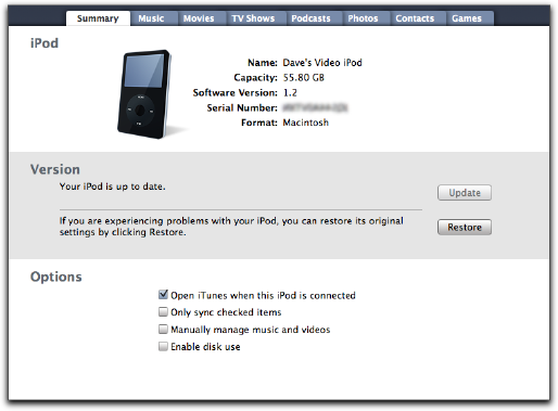 How to reset ipod classic to factory settings without computer