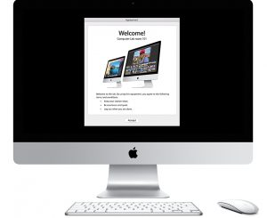 iMac with custom message screen