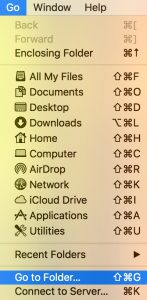 OS X Go menu option