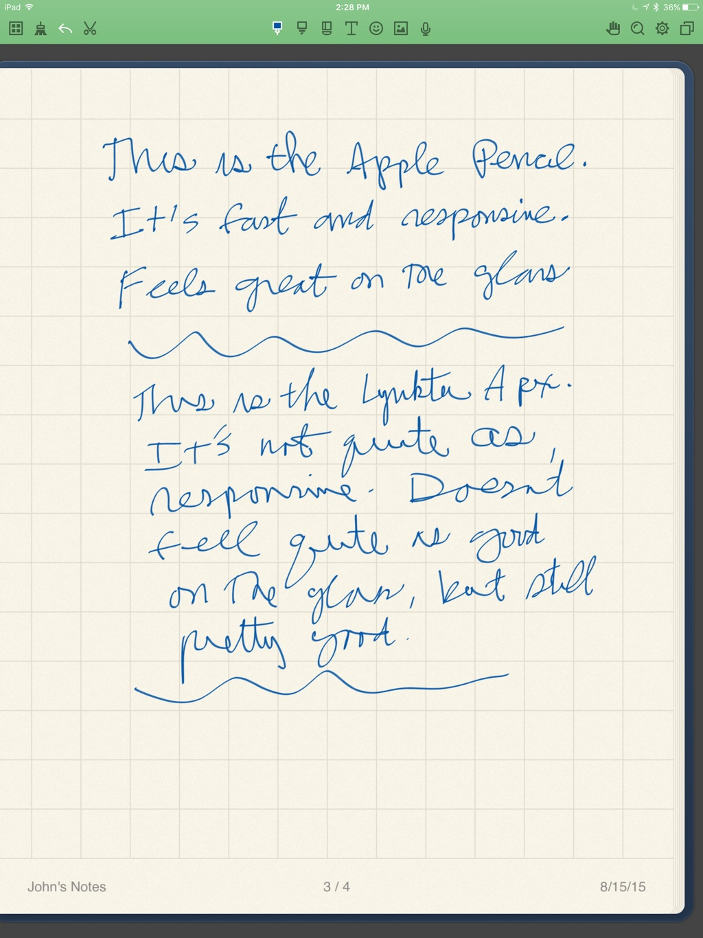 Noteshelf test