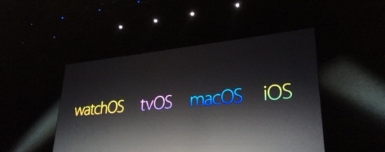 Apple's four OSes