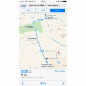 Apple Maps transit directions