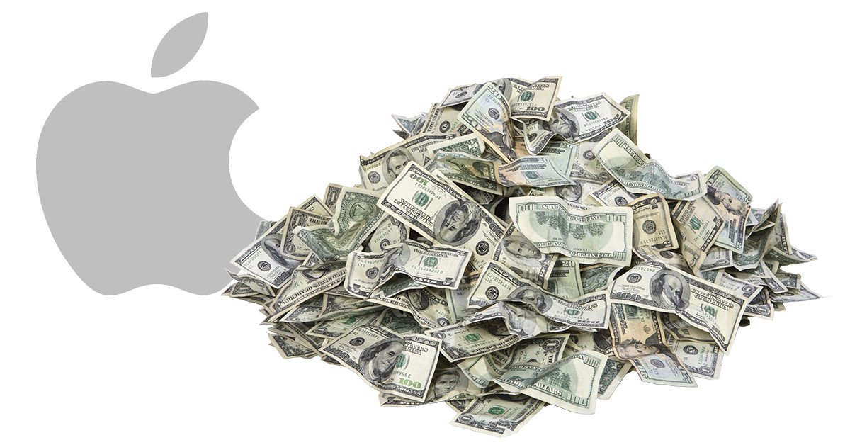 Apple money pile