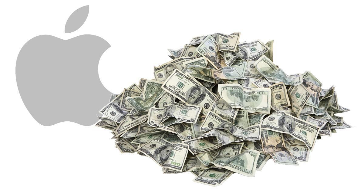 Apple money pile