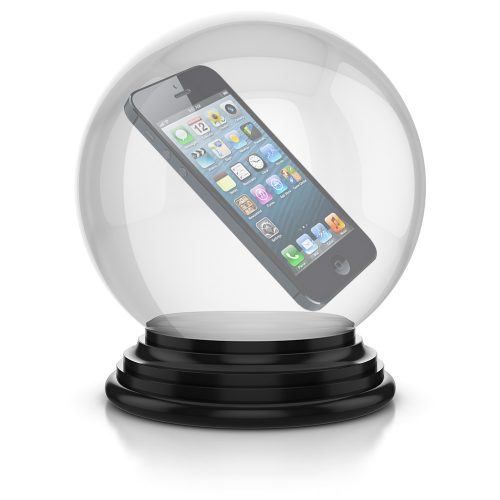 iPhone in crystal ball
