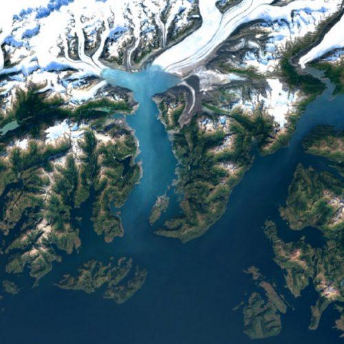 Google Earth image of Columbia Glacier, Alaska