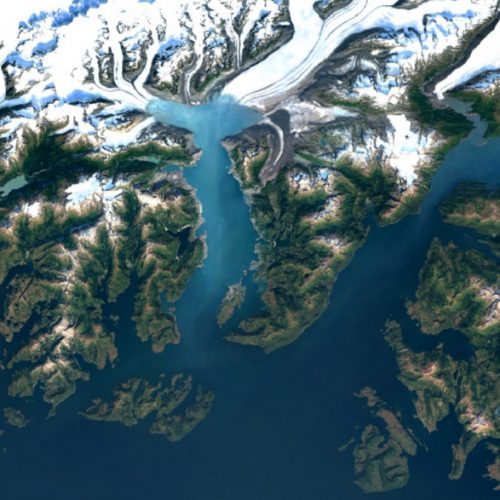 Google Earth image of Columbia Glacier, Alaska