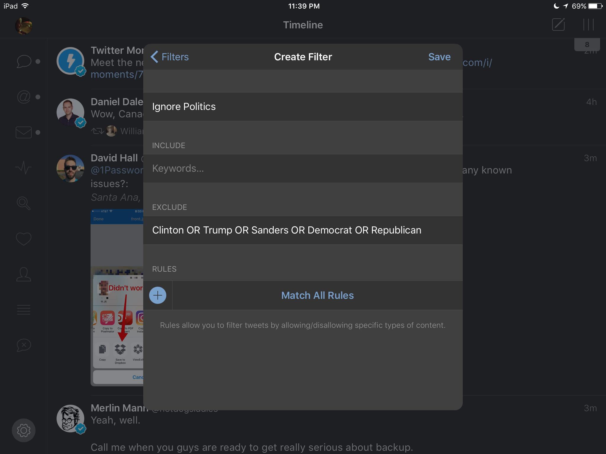 Tweetbot's Twitter Timeline Filters Get Even Smarter