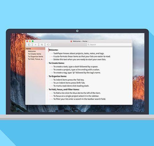 TaskPaper on MacBook