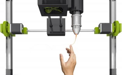 A 3D printer printing a hand
