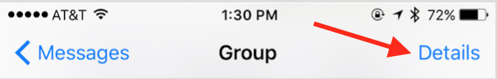 how to leave a group text on ios 11
