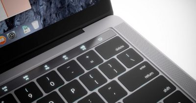 Concept of Macintosh, MacBook Pro with OLED strip