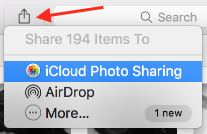 how to add an album to icloud
