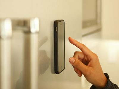 Anti-Gravity iPhone Case on Wall