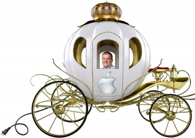 Bob Mansfield in TMO's artist rendition of Apple Car